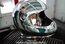 Chrome Style videók. Krómozott megjelenés (szinte) bármire / Krómozás akár műanyagra is gyorsan és látványos megjelenéssel a Chrome Style technológiával. http://chromestyle.hu