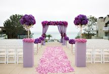 Pantone's Radiant orchid weddings 2014 / Pantone's color of 2014. Purple weddings