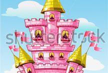 замок-башня-рыцарь-принцесса