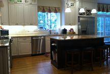 Maple/Cherry -- Cashmere/Hazelnut / Specie: Maple/Cherry Finish: Cashmere/Hazelnut Overlay: FOLC Door Style: Neoga Ridge Raised Drawer Style: 5pc Flat  Designer:  Meg O'Neill @ Cabinet Discounters - Annapolis MD