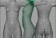 Maya modeling human