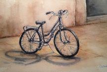 Bicicleta de paseo watercolor / Bicis