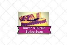 Raven's Purple Stripe Soap