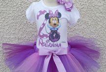 Minnie Mouse Birthday Tutus / Girls Minnie Mouse Birthday Tutu Outfits up to age 14!