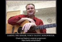 Sabino, the Songwriter. / Original songs from Elliot Sabino, the author, musician, voice-talent, songwriter.