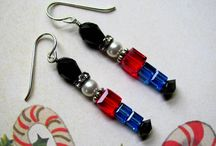 Holiday earrings, bracelets, jewelry