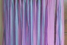 DIY plastic sheet backdrop