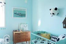 Chambre de bébé en bleu
