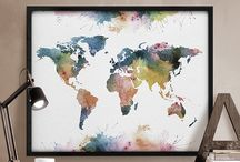 World map / Maps of the world decoration