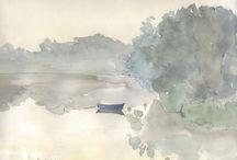 aquarelle dessin paysages fleurs / iii / by thérèse martin