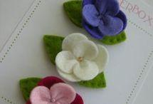 fiori in feltro