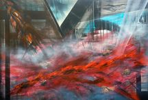 The Visions of Slavery Collection / A collection of abstract paintings by UK artist CageOne.