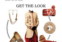 Get the Look...!! / At Manish Creations you will surely find the right outfit with suitable accessories to make you look the best for the wedding ocasssion! Look the best for the wedding occasion