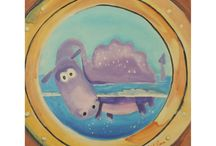The Loch Ness monster pictures / My latest Nessie paintings