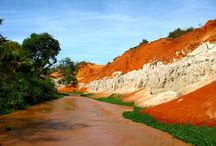 Mui Ne Orange Water beach in Vietnam / Mui Ne in Vietnam  is a beautiful beach area perfect for relaxing, has everything for beach lovers and adventurers.  Mui Ne impressed by beautiful orange-red waters.