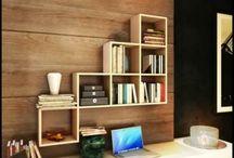 Demonte Mobilya / Duvar dekorasyonunda, evde kolaylıkla kurula bilen mobilyalar.