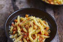 Butternut squash and pachetta pasta