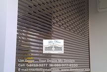 Smart Stainless Steel Shutter with Remote Control By Lim Decor #www.limdecor.net