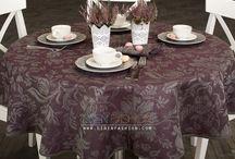 Jacquard table linens