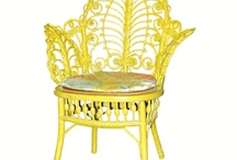 "Yellow Wicker / Use yellow wicker in your decor to add a bust of ""sunshine"" aesthetic effect. / by Wicker Paradise"