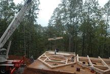 Timber Frame Raisings / This is how our frames go up!