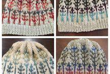 Hats in Mountain Meadow Wool yarns