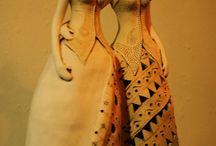 Panenky z keramiky