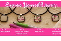 Express Yourself Jewelry / Jewelry you design on with permanent markers.  The design stays on to the touch but can be wiped off with a wet wipe!  