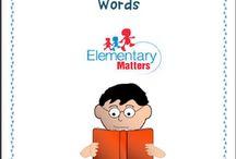 Language - Words words words / by Ajar Anak