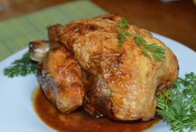 Chicken / Chicken prepared in many different ways.