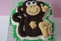 Monkey Cake Designs / This shape cake is made by using our Wilton Monkey cake tin.