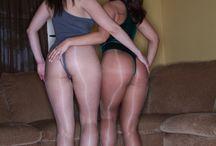 shiny pantyhose 2