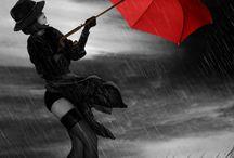 Chuva dançando em mim! Eu sinto a leveza da alma  e  o corpo levitar! / Chuva...dançando em mim!