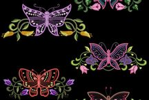 Embroidery Butterflies