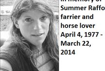 Summer's Garden / Summer Raffo, farrier and horse rescuer. Too soon has Summer gone.