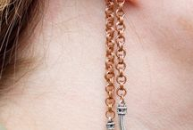 Rose Gold / Rose Gold Claw Earrings