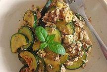 Zucchini mit tunfisch
