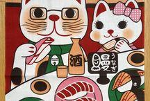 Traditional Japanese Fabrics / Karlotta Pink's Assortment of fine and traditional japanese fabrics - Asanoha, Seighaia pattern as well as furohsiki and tenuguis