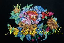 Zhostovo painting at quilling