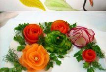 decoração  legumes