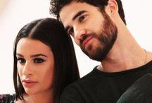 Darren Criss and Lea Michele