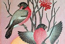 птицы стилизация