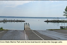 Dean's Cove State Marine Park / PARKS IN THE FINGER LAKES REGION OF NEW YORK--Dean's Cove State Marine Park is located on State Route 89 near the Romulus/Varick town line. The park is designed specifically to provide boaters with access to Cayuga Lake. The launch area has a paved road to two concrete ramps, each with its own pier for short-term docking. For more information about this park, see: http://ilovethefingerlakes.com/recreation/stateparks-deanscove.htm / by ILovetheFingerLakes
