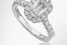 L'Amour Crisscut Original Engagement Rings