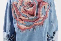 вышивка джинс