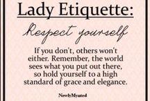 Be a lady!