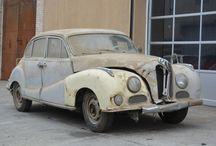 abandoned rusty cars