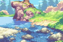 Pixel art environment