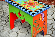Painted Benches / Designs for artfully painted bench / by Sheryl Corr