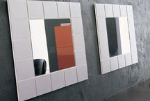 Modern New Large Square White High Gloss Frame North Star Wall Mirror